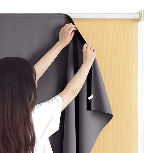 RYB HOME Auskleidung für Rollen, für den Außenbereich Modern 6 x 6 ft grau - Screen Roller Shades