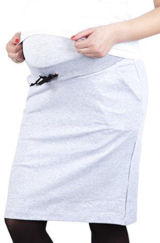 Mija – jupe de maternité et de grossesse décontractée avec volet doux 9050 Melange