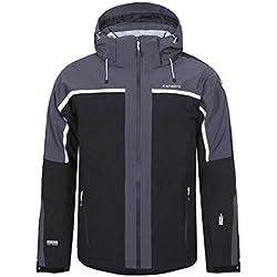 NEVIO by ICEPEAK | Men's Ski Jacket , Version:Standard, Taille:56, Qualité:535, Couleur des parents:Noir, Couleur:Schwarz