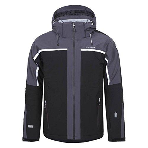 NEVIO by ICEPEAK   Men's Ski Jacket , Version:Standard, Taille:56, Qualité:535, Couleur des parents:Noir, Couleur:Schwarz