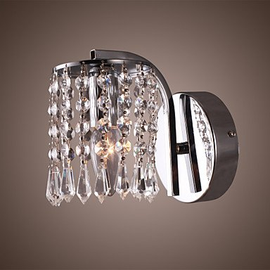 LQXZM 60W Vibrant Modern Wall Bracket Light with Crystal Pendants in Polished Chrome , 220-240V