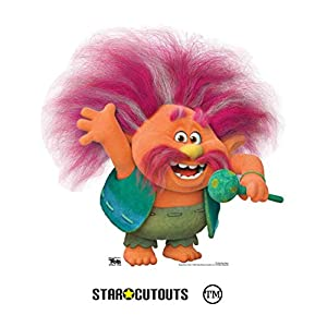 Star Cutouts Ltd SC1506 Star Cutouts King Peppy Trolls, perfecto para fiestas y fans, 74 cm de ancho, multicolor