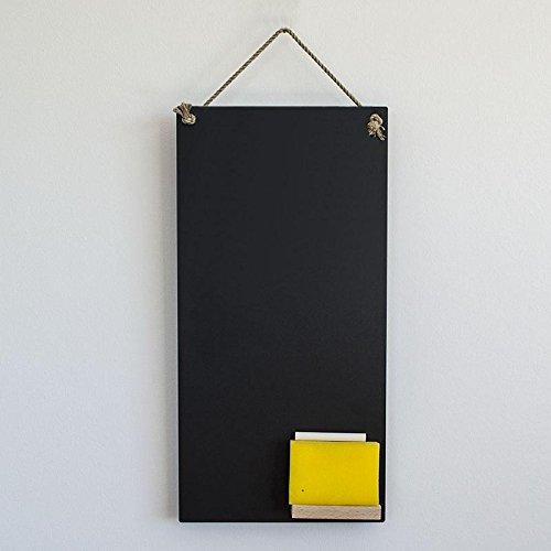 Hochwertige Kreidetafel 24x48 cm, für Küche als Memotafel mit Ablage, Kreide, Kordel und Schwamm