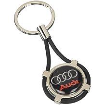 Llavero Audi para coche y moto, para los modelos A1, A3, A4, A5, A6, A7, A8, Q2, Q3, Q5, Q7, TT, con estuche, negro