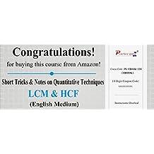 Practice Guru Short Tricks and Notes on Quantitative Techniques - LCM & HCF (Activation Key Card)
