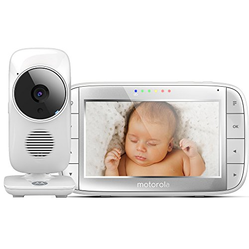 Motorola MBP 48 Video-Babyphone | 5,0 Zoll Display | Kamera mit Zoom | Temperaturüberwachung | 2-Wege-Audio