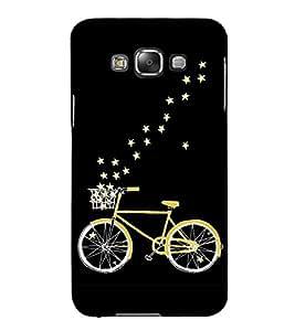 PrintVisa Golden Cycle 3D Hard Polycarbonate Designer Back Case Cover for Samsung Galaxy E5 (2015) :: Samsung Galaxy E5 Duos :: Samsung Galaxy E5 E500F E500H E500HQ E500M E500F/DS E500H/DS E500M/DS