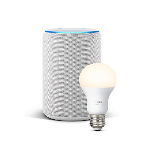 All-new Echo Plus (2nd Gen), Sandstone + Philips Hue White bulb E27