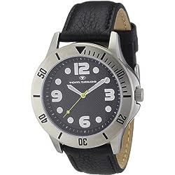 TOM TAILOR Herren-Armbanduhr XL Analog Leder 5407201