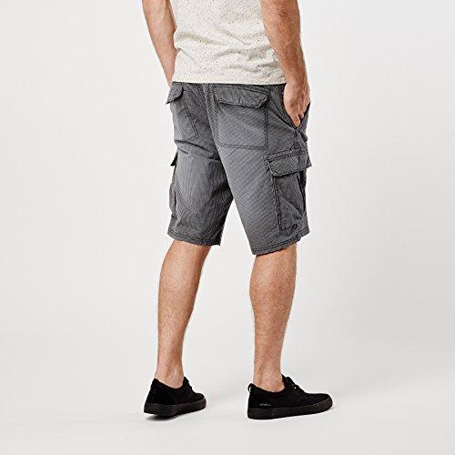 O'Neill Herren Hose LM Complex Check Cargo Shorts Black Aop