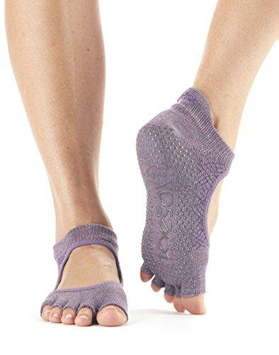 ToeSox agarre media punta de los calcetines bellarina, calcetines de baile (Opal, Small)