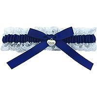 Blau Weisses Strumpfband für Hochzeit - Braut Geschenk - Wedding Garters - etwas Blaue