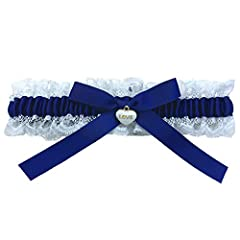 Idea Regalo - Set di Giarrettiere di Pizzo Blu Sposa, Regalo di Giarrettiera da Sposa Nuziale - Qualcosa di Blu