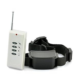 everteco Télécommande pour chien collier de dressage pour chien anti-aboiement Appareil sans chocs Anti écorce collier avec avertisseur sonore, forte Vibration, sans choc électrique à batterie,, 120m de portée