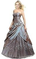 Faironly M201 Frauen trägerlosen Abendkleid Formal Silber Ball Kleid