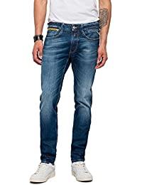 Replay Men's Anbass Coin Zip Slim Jeans