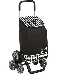 Gimi Tris Optical Einkaufstrolley, schwarz
