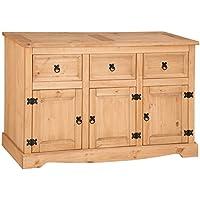 Corona 3-Door 3-Drawer Sideboard, Pine