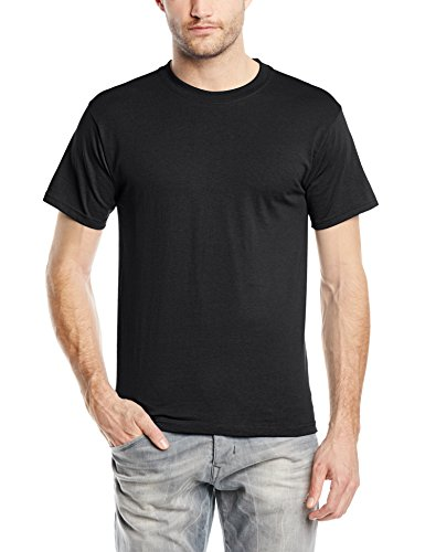 fruit-of-the-loom-heavy-cotton-tee-shirt-t-shirt-coupe-droite-col-rond-manches-courtes-homme-noir-x-