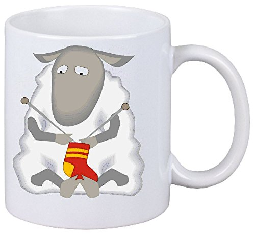 Kaffeetasse Motiv Nr. 12494 Schafe die Socke stricken Cartoon Spass Fun Kult Film Cartoon Spass Fun...