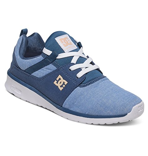 DC Shoes Heathrow Se J, Baskets Basses femme Bleu - Navy/White