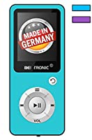 BERTRONIC Made in Germany BC04 Royal MP3-Player - Music / Video Player - Up to 100 hour battery, portable player with Loudspeaker - Storage up to 128 GB by microSD card