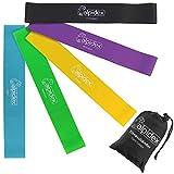 ALPIDEX Fitnessbänder Professional 5er Set Loopbänder in verschiedenen Stärken und Farben inkl. Aufbewahrungstasche