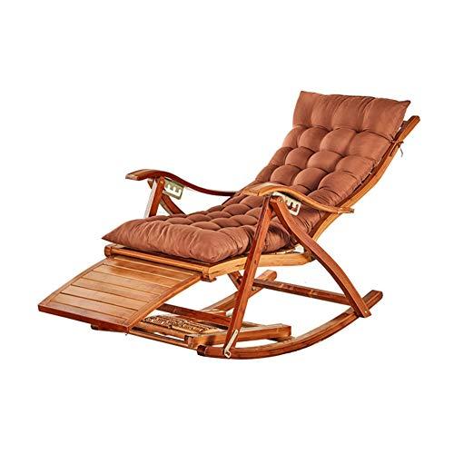 Bambus Klappstuhl, Schaukelstuhl ältere Stuhl Mittagspause Stuhl Wohnzimmer Recliner Balkon Lounge Stuhl Klappstuhl (Farbe : D)