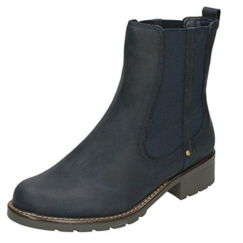 Clarks Damen Orinoco Club Chelsea Boots Navy Nubuck