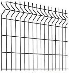 Clôture grillage rigide soudé - Kit de 10m complet avec panneaux et poteaux à sceller - Vert - Hauteur : 1025 mm
