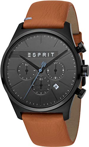 Esprit Reloj Cronógrafo para Hombre de Cuarzo con Correa en Cuero ES1G053L0035