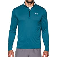 Under Armour Speed Stride 1/4 Zip Top de Manga Larga, Hombre, Azul, L