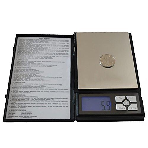 12x12 Elektrische Pfanne (500g / 0,01 g Portable Notebook Edelstahl LCD blau hinterleuchtete Schmuck Digitalwaage Plattform)