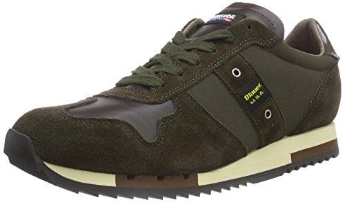 Blauer USARUNLOW/TAS - Sneaker uomo , Verde (Grün (MILITARY GREEN)), 45