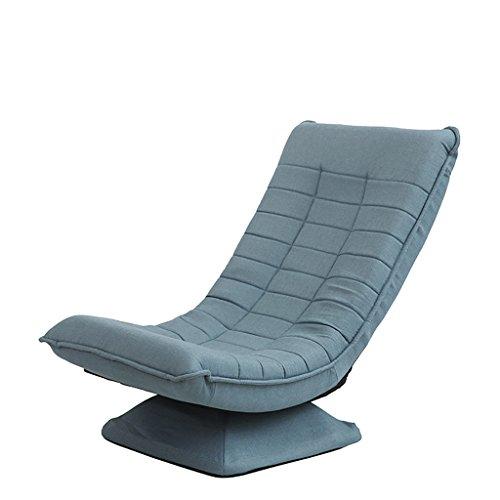 Der Geschmack von zu Hause Faules Sofa Einzelner Stuhl Kreative Komfortable Mini Sofa Indoor/Outdoor Weiche Bodenkissen Boden Stuhl Für Mittagspause/Fernsehen (Farbe : Lake Blue)