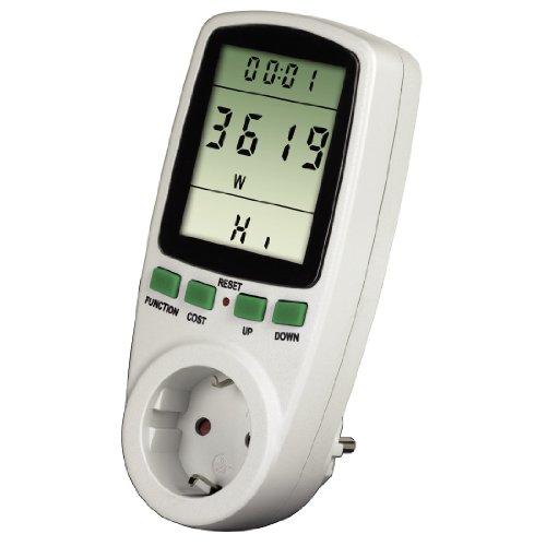 Xavax Energiekosten-Messgerät Premium (Stromverbrauchsmessgerät zur Ermittlung von Stromverbrauch und Stromkosten, Speicherfunktion zur Langzeitmessung) -
