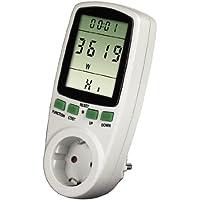 Xavax Energiekosten-Messgerät Premium (Stromverbrauchsmessgerät zur Ermittlung von Stromverbrauch und Stromkosten, Speicherfunktion zur Langzeitmessung)