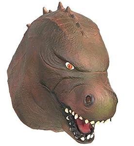 The Rubber Plantation TM 619219292061 - Máscara de látex japonés de cabeza completa para disfraz de Tyrannosaurus Dinosaur T Rex Halloween, adulto unisex, talla única