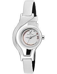 Swisstone WC302-White Dial White Strap Analog Wrist Watch For Women/Girls