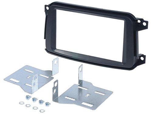 Kit Facade Autoradio pour Smart Fortwo Noir ADNAuto