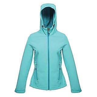 Regatta Women's Womens Arley II Plain Hooded Long Sleeve Jacket, Blue (Aqua (Ocean Depths)), 16 (Manufacturer Size:16.0)