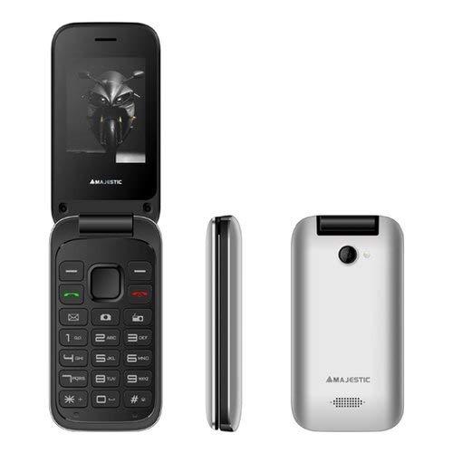 Majestic tlf lucky 61 flip - telefono gsm dual sim flip attivo, display 2.4