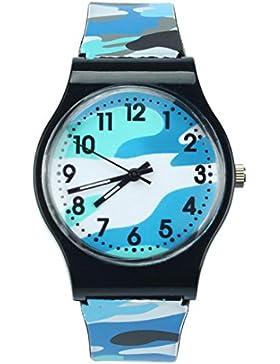 Rcool Mode Camouflage Kinder Silikon Armbanduhr Quarz Armbanduhr für Kinder