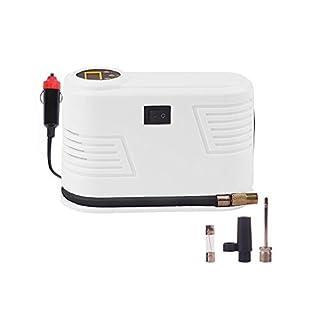 Luftpumpe Auto , Elektrischer Luftverdichter für Fahrrad Ball Ballon 150 PSI Portabel Aufladbar mit LCD-Display / Ein Schlüsselschalter(Weiße)