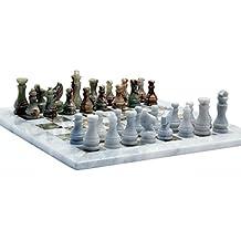 RADICALn Handmade Marble Onyx Chess Game Set - a mano bianco e onice verde marmo di scacchi Gioco completo in marmo originale Chess Set