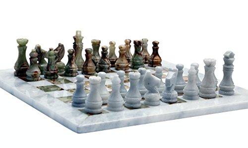 RADICALn Handmade Marble Onyx Chess Game Set - Handmade Weiß und Grün Onyx-Marmor Voll...