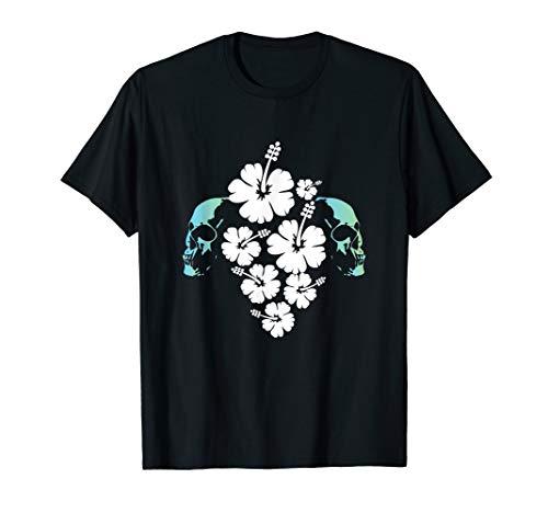 Schädel Hibiskus Hawaii Aloha Surf Vibe T-Shirt (Aloha-shirt Hawaii Hibiskus)