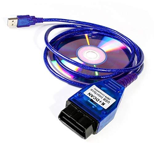 NiceCheck INPA d Can Kabel Codierung Kabel K+ CAN Ediabas Kabel mit Schalter DCAN Interface Coding Unterstützung E Serials Interface für BMW R56 E87 E93 E70