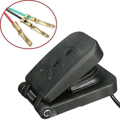 ZZZM Pedal, Elektroauto Fußpedal, Gaspedal, Gaspedal, schwarz, Kunststoff, Geschwindigkeitskontrolle, 3 Drähte für Golf Cart Boot