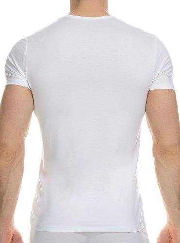 Bruno Banani - Maglietta, collo rotondo, manica corta, uomo Bianco (Weiß (Weiß))